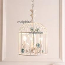 купить Nordic Style Iron Art Bird Cage Pendant Lamp Living Room Bedroom Innovation Decor Pendant Lights Loft LED Lighting Light Fixture по цене 8128.37 рублей