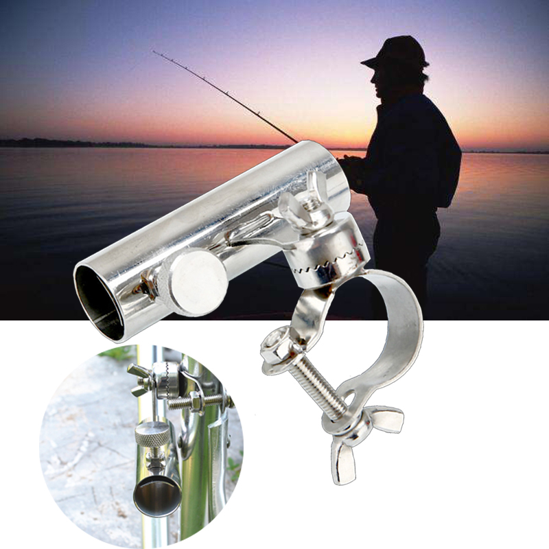Stainless Steel Fishing Rod Stand Fishing Tools And Accessories Boat Rod Holder Rack Rod Pole Bracket Tool automatic double spring angle fish pole tackle bracket fishing bracket rod holder anti rust steel tools fishing accessories