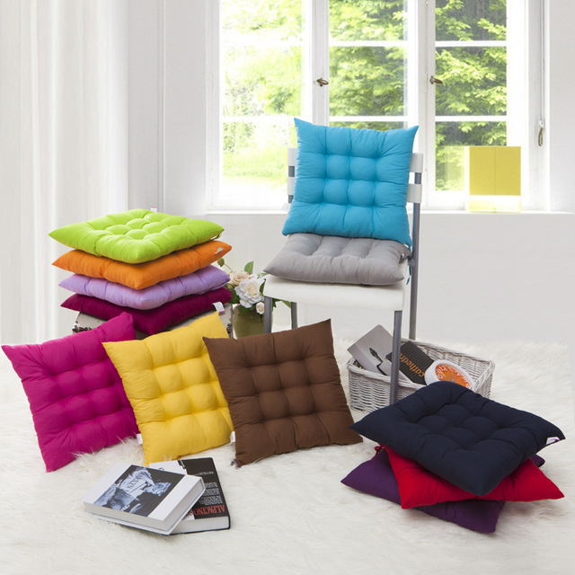 Elegant Packung 2 Stücke Starke Stuhl Kissen Esszimmerstuhl Nette Solide Warm Kissen  Pad Student Sitzhocker Büro Komfort