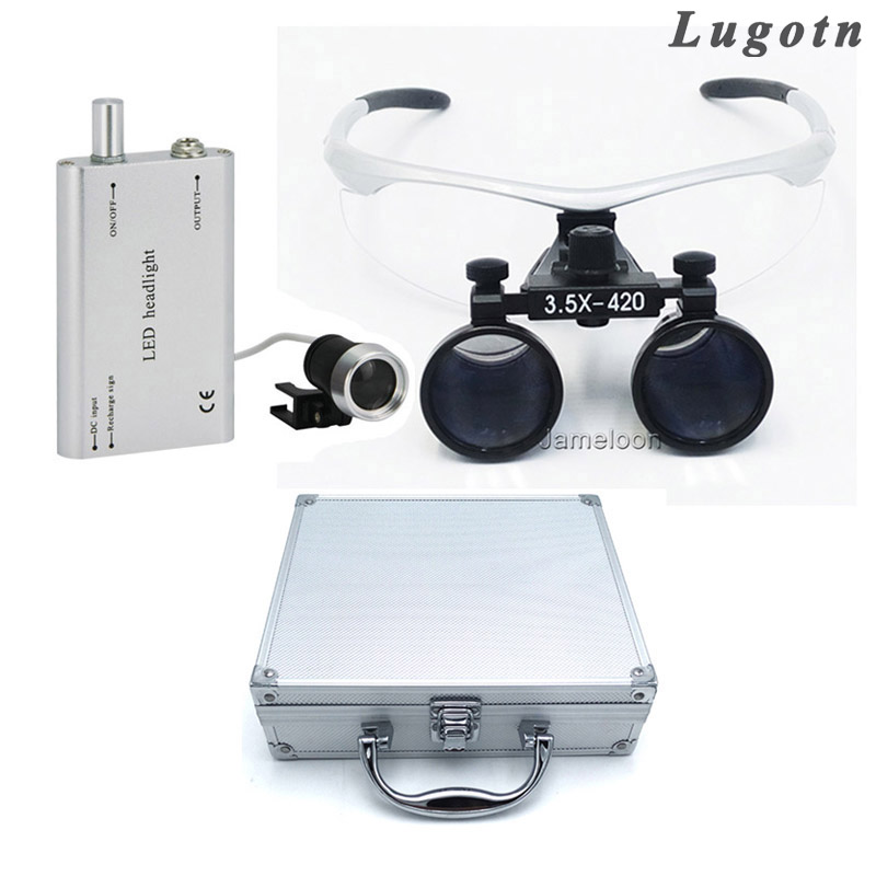 Metal box 3.5X times enlarger dental amplify operate loupe led head light operating magnifier surgical amplification fpv x uav talon uav 1720mm fpv plane gray white version flying glider epo modle rc model airplane