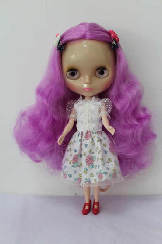จัดส่งฟรีใสRBL-180T DIYเปลือยตุ๊กตาไบลท์ของขวัญวันเกิดสำหรับสาว4ตาโตสีที่มีผมสวยน่ารักของเล่น