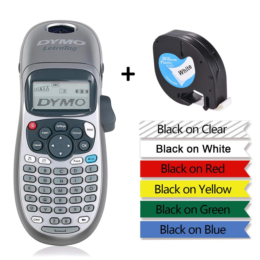 Original Dymo LetraTag LT-100H Label Printers Handheld Label Maker For LT 12267 91201 91202 91203 91204 91205 LT 18769 18771