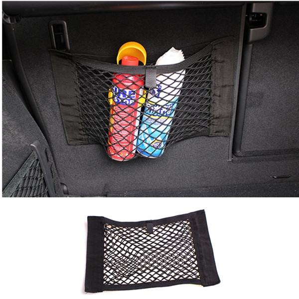 FLYJ автомобильное заднее сиденье багажника эластичная Сетчатая Сумка для хранения багажника автомобиля Органайзер сумка для хранения карманная клетка авто аксессуары - Название цвета: A