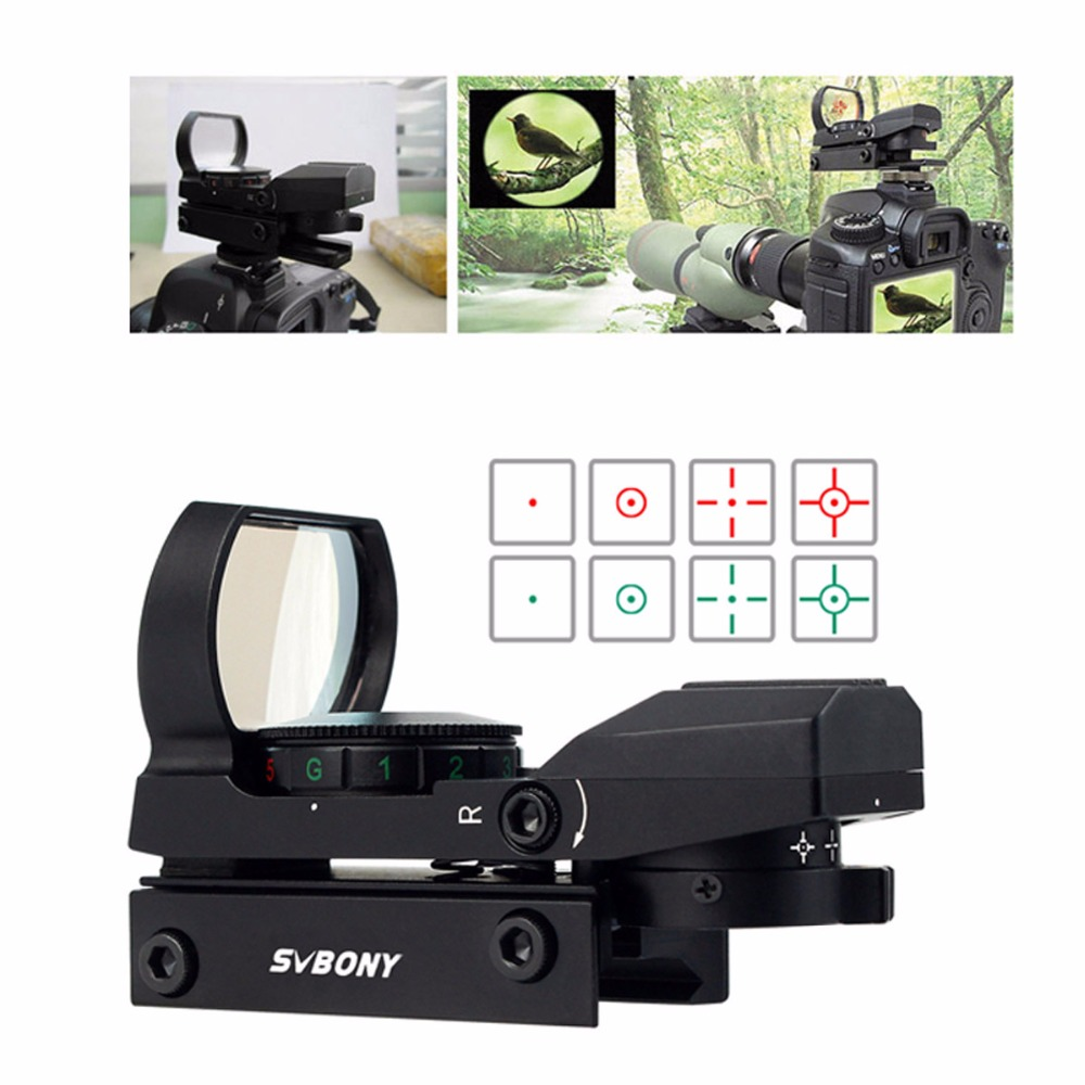 Image 2 - SVBONY 20mm Rail Riflescope Hunting Airsoft Optics Scope Holographic Red Dot Sight Refle x 4 Reticle Tactical Accessories F9128-in Riflescopes from Sports & Entertainment