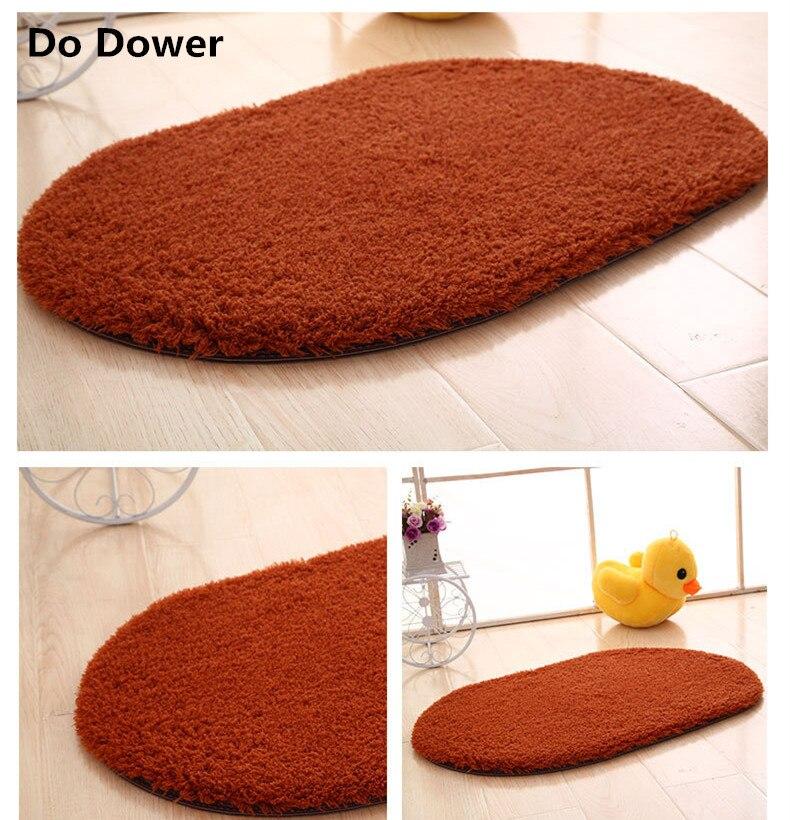 Thickening Oval Carpet Bathroom Door Waterproof Mat Bedroom Entrance Kitchen Bathroom Door Mat 9 Colour