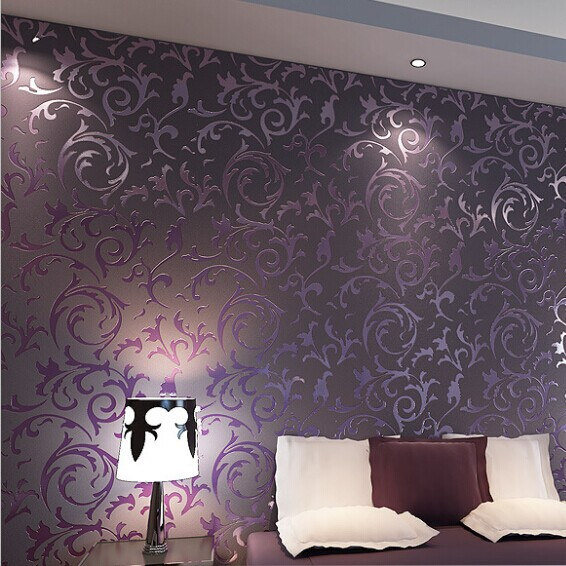 Plum living room wallpaper for Purple wallpaper for walls
