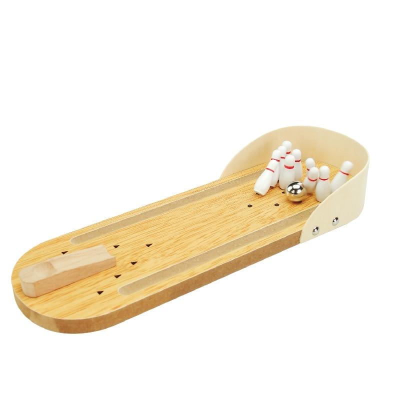 Mini bolos de madera, juego de mesa interactivo para el ocio entre padres e hijos, juguetes educativos para el desarrollo de la inteligencia de los niños, bolos de juguete
