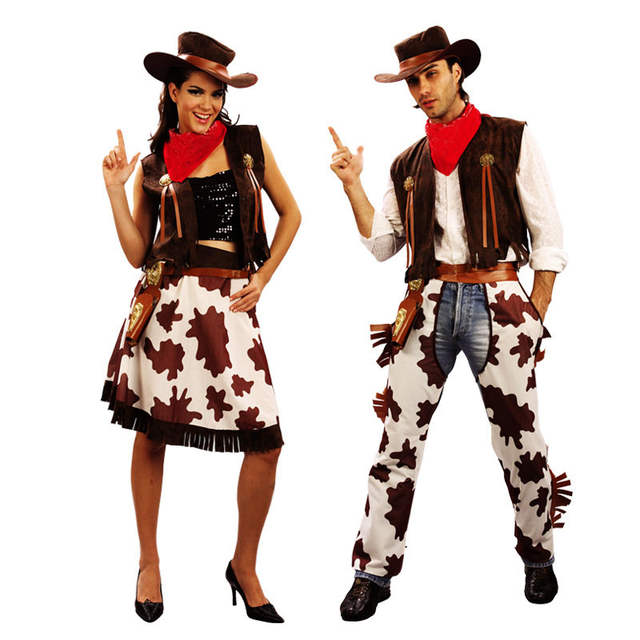 7ef0ad9d1c536 US $19.9 | Children Adults West Cowboy Cosplay Costume Boys Girls Men Women  Performance Costumes Dress Party Purim Halloween Christmas on ...
