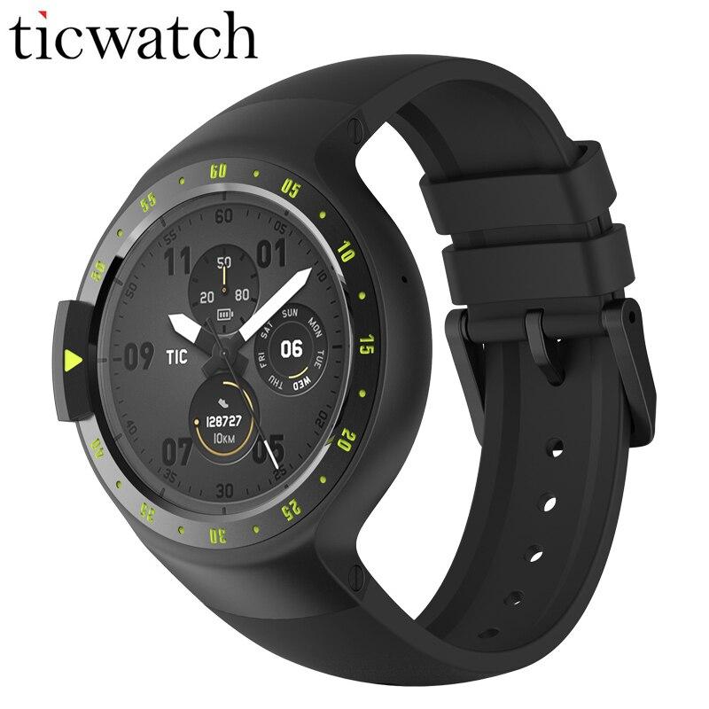 Оригинальный Ticwatch S рыцарь Смарт-часы Android Wear 2,0 Bluetooth 4,1 WI-FI сердечного ритма IP67 Водонепроницаемый Встроенный gps спортивные часы