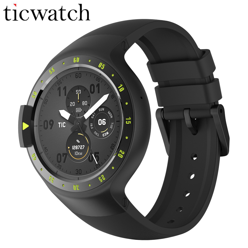D'origine Ticwatch S Chevalier Montre Smart Watch Android Porter 2.0 Bluetooth 4.1 WIFI Coeur Taux IP67 Étanche Intégré GPS Sport Montre