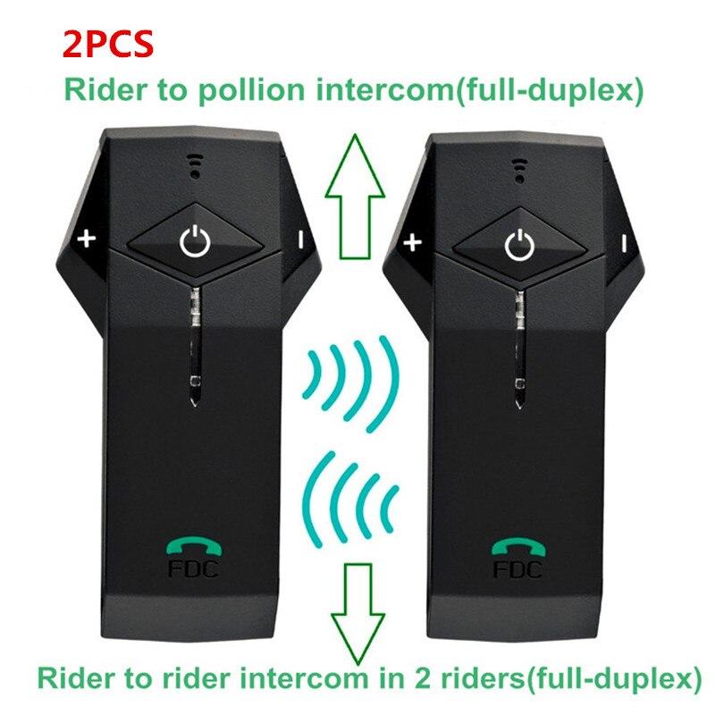 2 sets/lot 1000 m Étanche Sans Fil En Duplex Intégral Bluetooth Interphone Moto/Casque de Ski Casques Main Mains Libres Téléphone Avec NFC