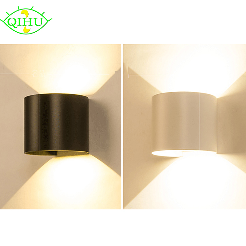 Outdoor LED Wall Lamp IP65 Waterproof Aluminum Adjustable Surface Mounted Cube Warm White Outdoor LED Wall Light 10W AC85-265V the ivory white european super suction wall mounted gate unique smoke door