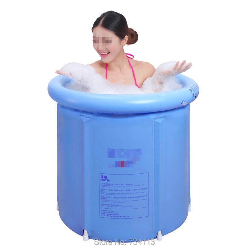 Folding water beauty bath tub inflatable bathtub thickened plastic Portable bath tub,65*70cm or 70*70cm,tub with pump