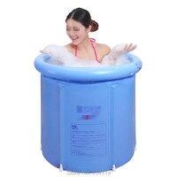 Folding water beauty bath tub inflatable bathtub thickened plastic Portable bath tub,65*70cm or 70*70cm,tub with pump