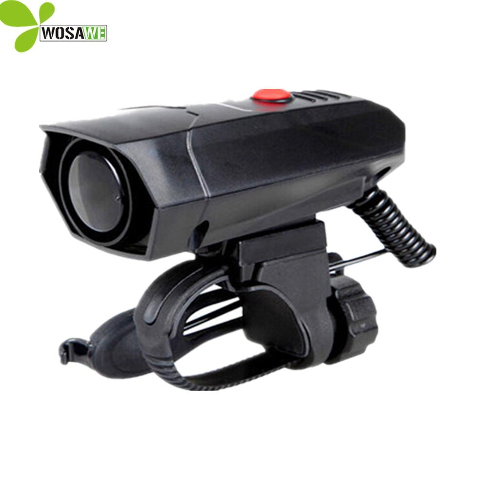 WOSAWE Bicycle Bell Cycling light <font><b>Horns</b></font> Electronic Bike Handlebar Ring Bell <font><b>Horn</b></font> Strong Loud Air Alarm 5 Sound light bike bell