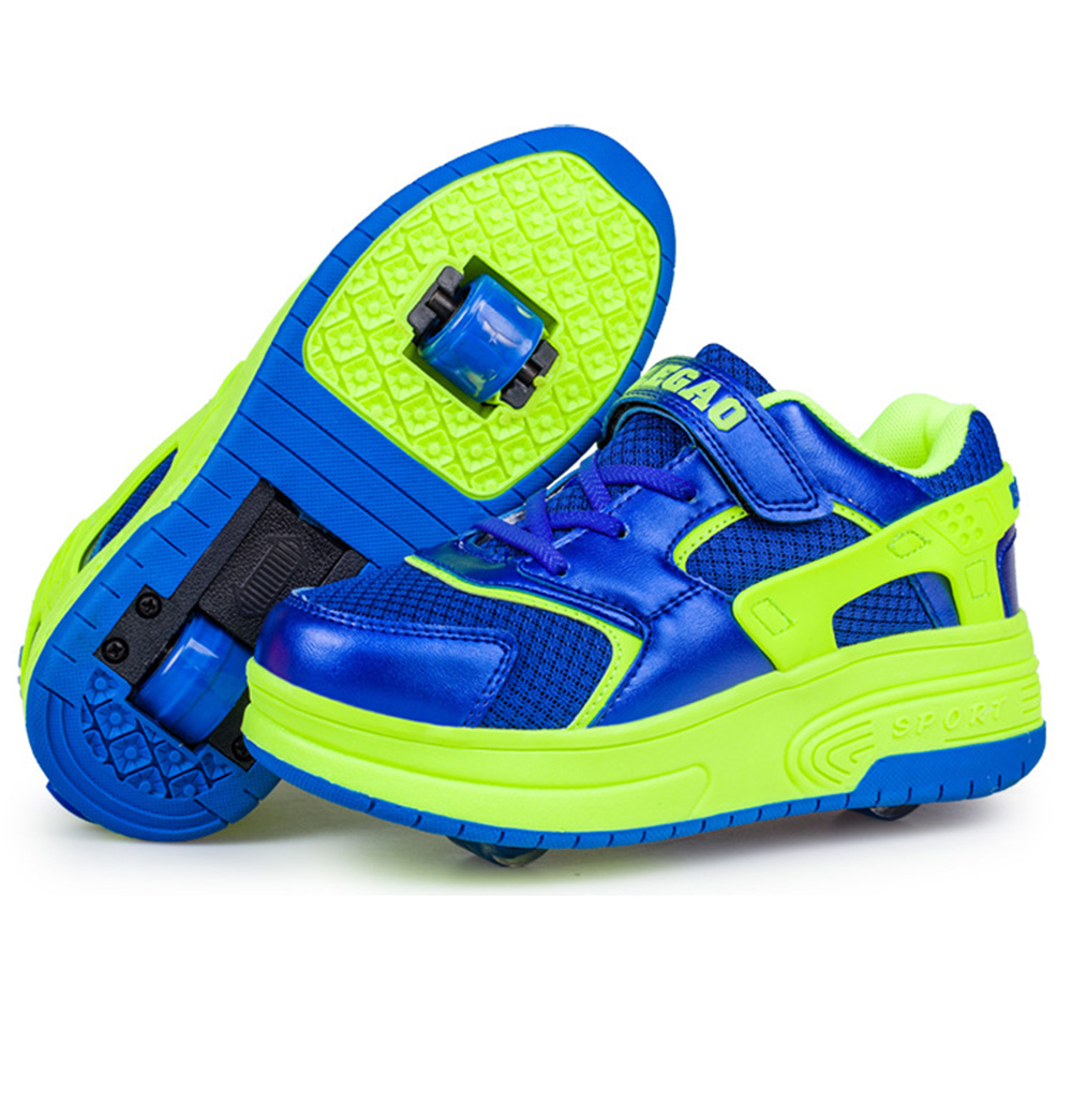 Roller shoes cheap - Children Shoes Shoes Sneakers With Two Wheels Kids Girls Boys Roller Skate Shoes Eportivas Mujer Ruedas