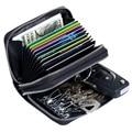2017 Key Holder Wallet Genuine Leather Unisex Solid Key Wallet Organizer Bag Car Housekeeper Wallet ID Card Holder Wallet DC166
