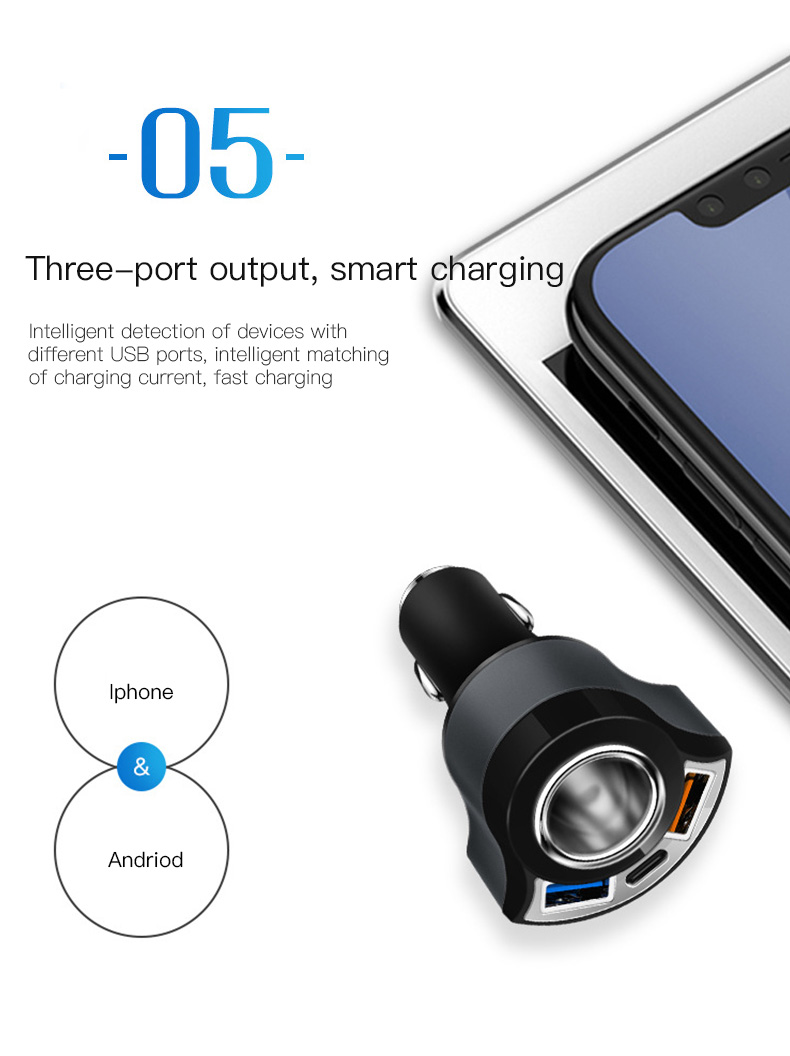 QC 3.0 USB Type C Car Charger (14)