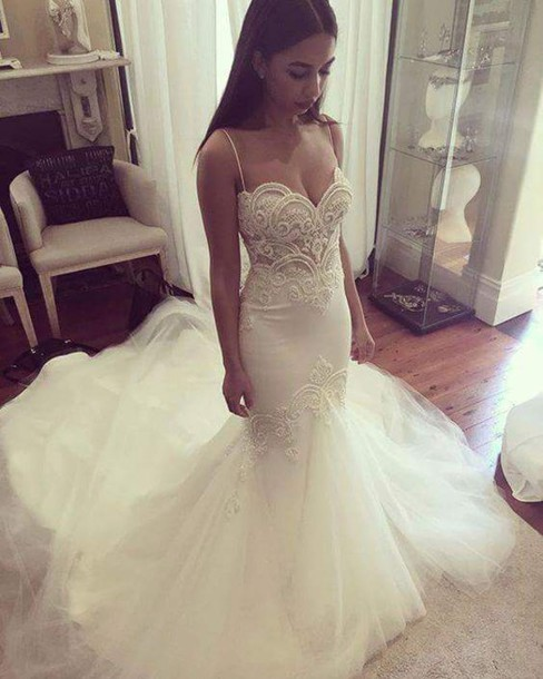 Online Buy Wholesale unique lace mermaid wedding dresses from ...