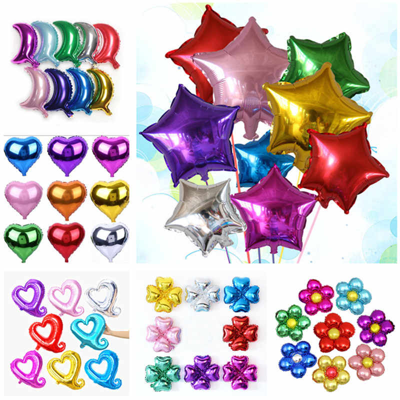 18 Inch Foil Balloons Star Balls Happy New Year Party Decoration Air Helium Balloons Home Christmas Gift Birthday Party Supplies