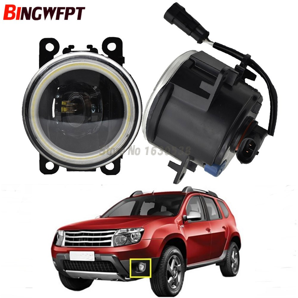 2x Angel Eye Automotive LED Daytime Running Light Fog Light DRL For Renault Duster Closed Off