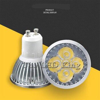 Super Bright GU10 żarówka LED 3W 4W 5W lampka LED GU10 COB ściemniania GU 10 reflektory LED ciepły/zimny biały darmowa wysyłka