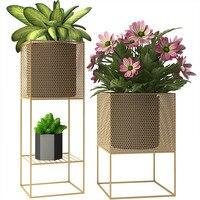 Nordic style simple indoor living room floor flower stand balcony creative green plant metal rack