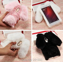 Rabbit Ear Hair Diamond Fur Soft TPU Case For Iphone 7 Plus 6 6S SE 5 5S Samsung Galaxy S8 Plus 2017 A3 A5 S6 S7 EDGE Cover 1pcs