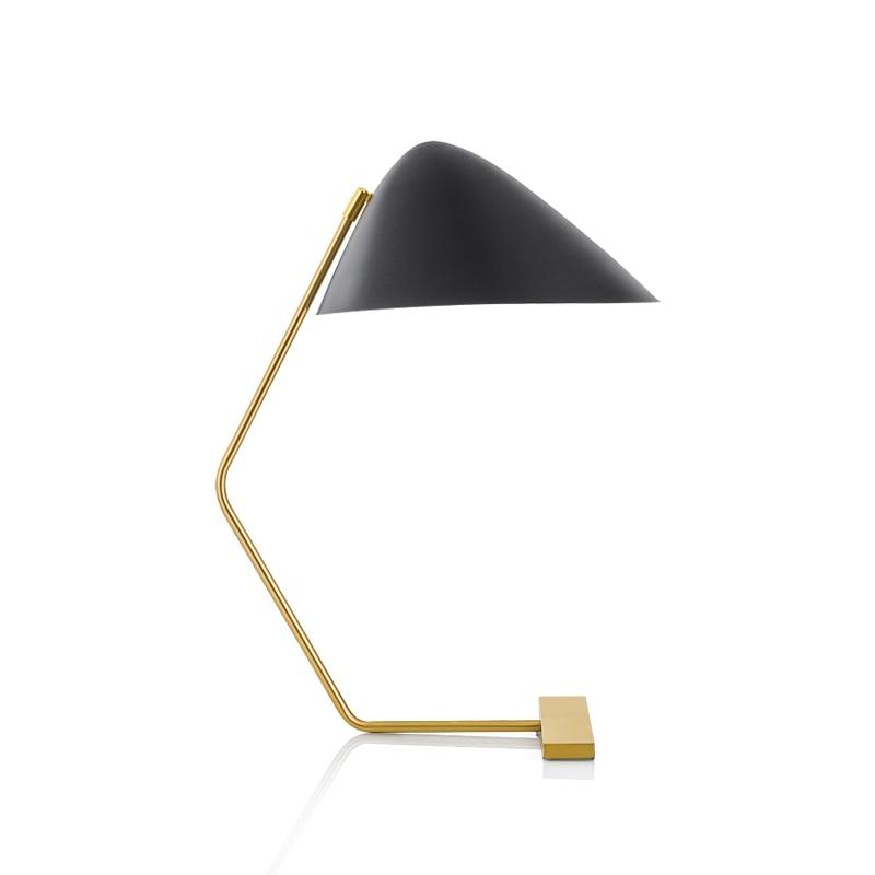 Artpad Американский неправильной формы абажур Черный Настольная лампа с изгибом руки художественный дизайн спальня креативная гостиная Roonm настольная лампа - 4