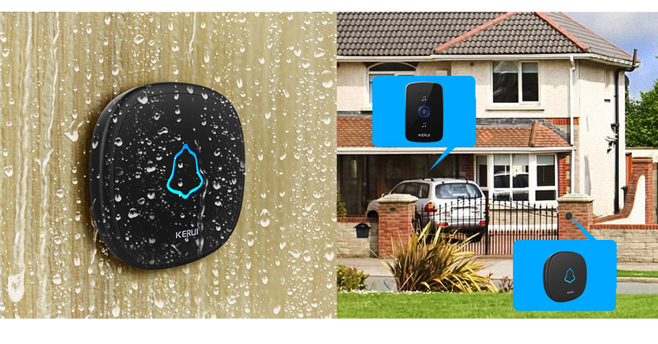 WATERPROOF TOUCH DOORBELL BUTTON