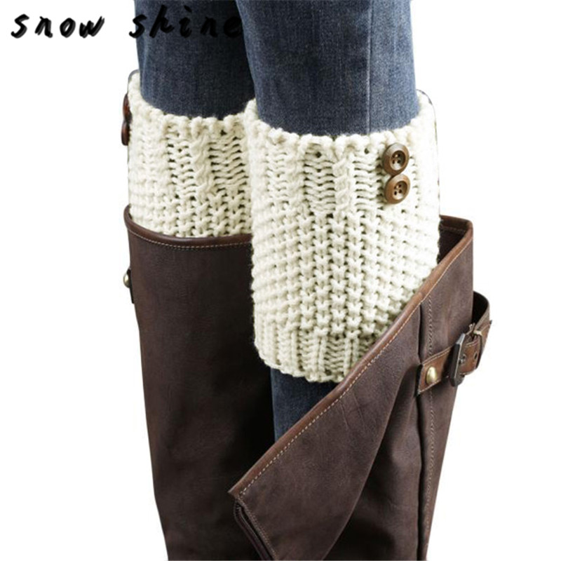 snowsong #5003 Knitted Brief Paragraph Coarse Needle Leg Warmers Socks Boot Cover free shipping