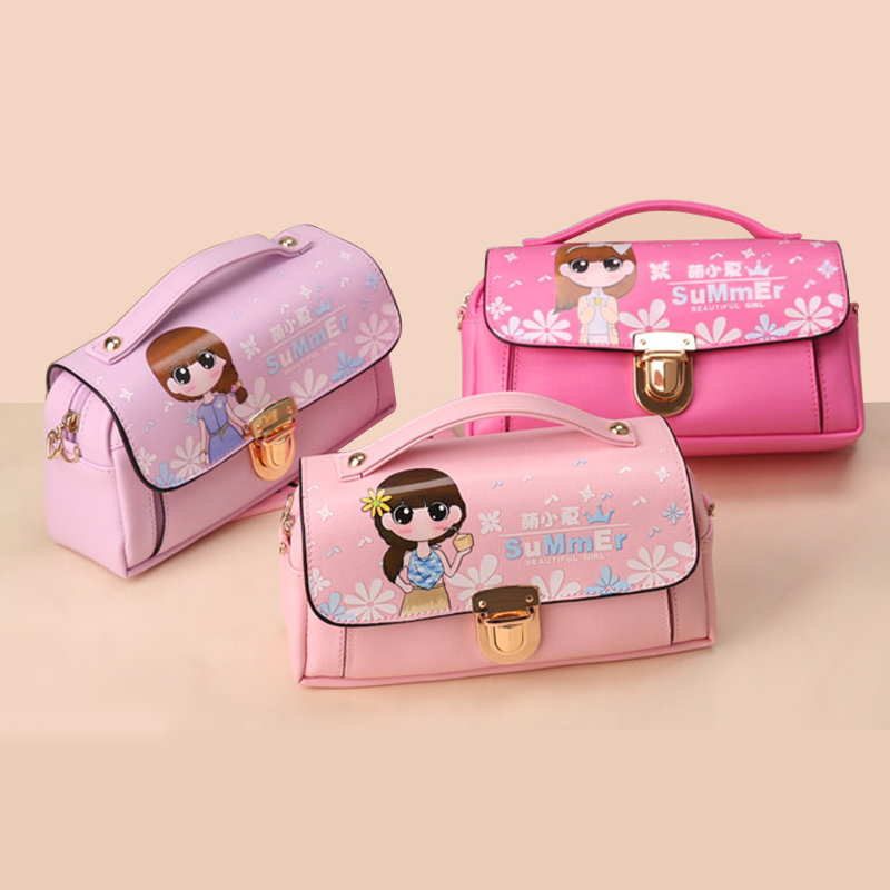 Korean Creative Crossbody Handle Pencil Bag for Girls Multifunction Large Capacity Pen Pencil Case School Supplies Stationery animal cat pencil case big capacity pen bag boxes student school supplies multifunction stationery creative cute student gifts