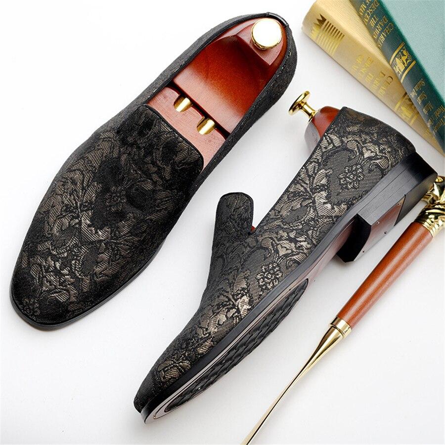 Mens black 100 Oxford Genuino 02 Casual Mano 01 Negro Black Primavera Brogue Zapatilla Zapatos A Vintage Para Flats Cuero Hecho Hombres rHxwx7t