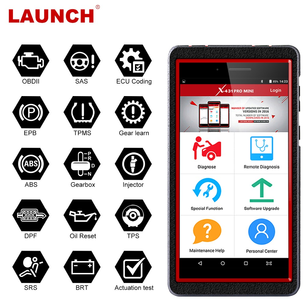 Launch X431 Pro Mini OBD2 Auto Diagnostic Scanner DPF Oil Reset TPMS Multi Language WiFi ODB