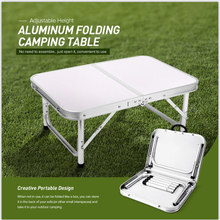 Alüminyum katlanır kamp masası dizüstü bilgisayar masası ayarlanabilir açık masa barbekü taşınabilir hafif basit yağmur geçirmez GG