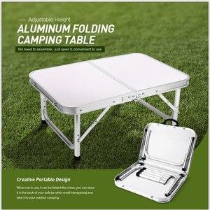 Image 1 - Aluminium Vouwen Camping Tafel Laptop Bed Bureau Verstelbare Outdoor Tafels Bbq Draagbare Lichtgewicht Eenvoudige Regen Proof Gg