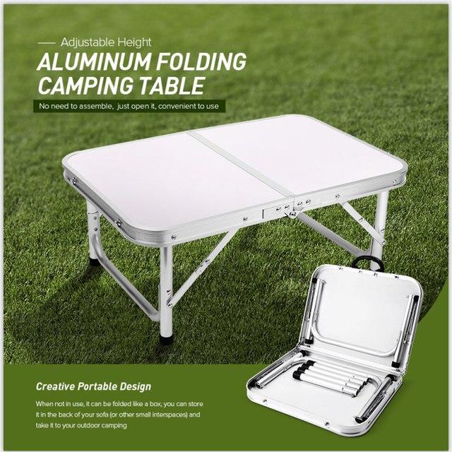 Aluminium Vouwen Camping Tafel Laptop Bed Bureau Verstelbare Outdoor Tafels Bbq Draagbare Lichtgewicht Eenvoudige Regen Proof Gg