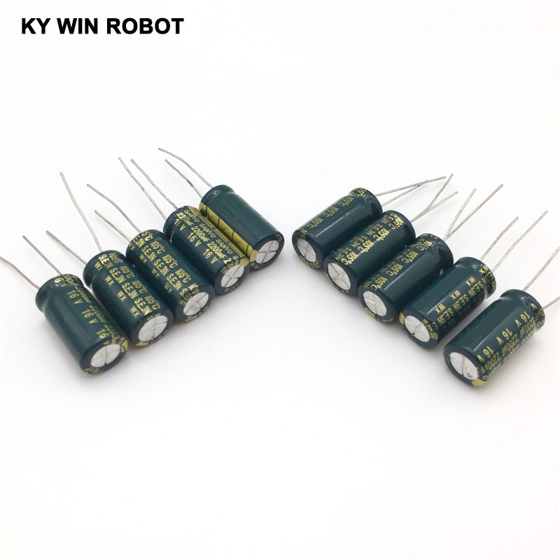 aluminum electrolytic 16V 2200UF 10*20 high frequency low impedance aluminum electrolytic capacitor 2200uf 16v (4)