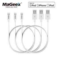 MaGeek [3-Pack] 1m Handy Kabel MFi Zertifiziert Blitz zu USB Kabel für iPhone Xs max X 8 7 6 5 iPad Air iOS 11 10