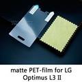 Lucent brillante Esmerilado Mate antideslumbrante de la Película Protectora de Cristal Templado protector de pantalla para lg optimus l3 ii e430 l3x E425f/G