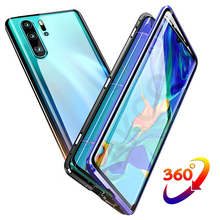 Akcoo for Huawei P30 Pro Case 360° Full Body Cover Front and Back of Tempered Glass mate 20 pro Magnetic Adsorption Cases