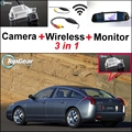 3 in1 Special Rear View Camera + Wireless Receiver + Mirror Monitor DIY Back Up Parking System For Citroen C5 C6