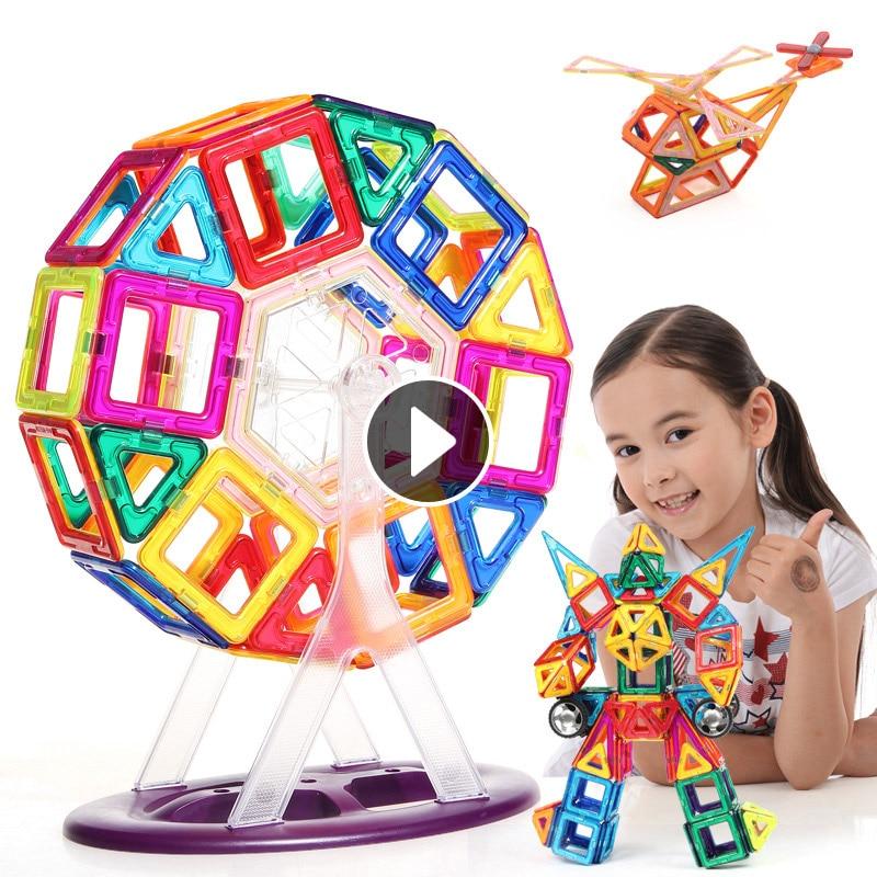 Mini Modelleri ve Bina Oyuncak Manyetik Blokları Öğrenme ve Eğitim Çocuk Blokları Plastik Tuğla Çocuklar Oyuncaklar Mıknatıs Teknik Blokları