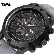 VA VA VOOM Fashion Mens Watches Brand Luxury Leather Quartz Men Watch Casual Sport Clock Male Relogio Masculino Drop Shipping топ voom