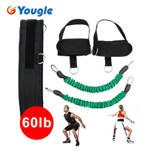 YOUGLE 60lb Resistance Bands Fitness Bounce Trainer Rope yoga Basketball Tennis Running Jump Leg Strength Agility Training Strap