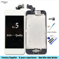 LCD Screen For IPhone 5 Full Assembly Display With Touch Screen Digitizer Front Camera Home Button