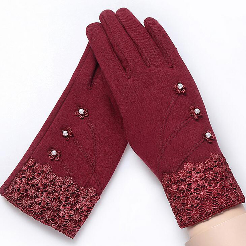 NIUPOZ Fashionable and Elegant Women Touch Screen Gloves for Winter made of Non Inverted Velvet to Keep Hands Warm 1