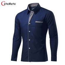 Brand Clothing Mens Formal Business Shirts Slim Long Sleeve Men Shirt Casual Camisa Social Masculina Male Shirt Chemise Homme