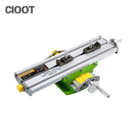 Miniature Precision Multifunction Milling Machine Bench Drill Vise Fixture Worktable X Y Axis Adjustment Coordinate Table