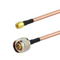 15 м SMA мужчин и N вилка высокое Температура двойной экранированный RG400 Коаксиальный RF кабель с низкими потерями